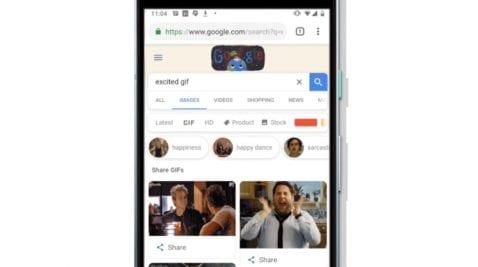Compartir GIFs desde Chrome para Android
