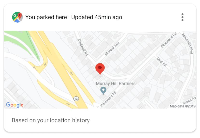 Aparcamiento Google Assistant