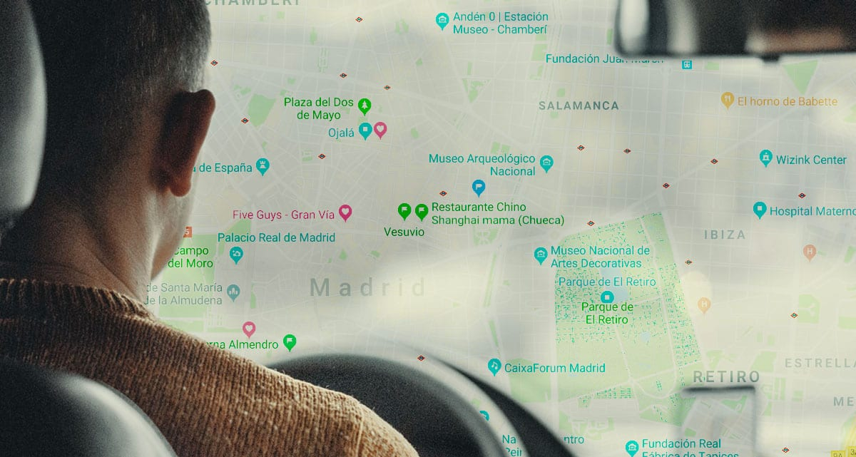 Google Maps avisos taxi