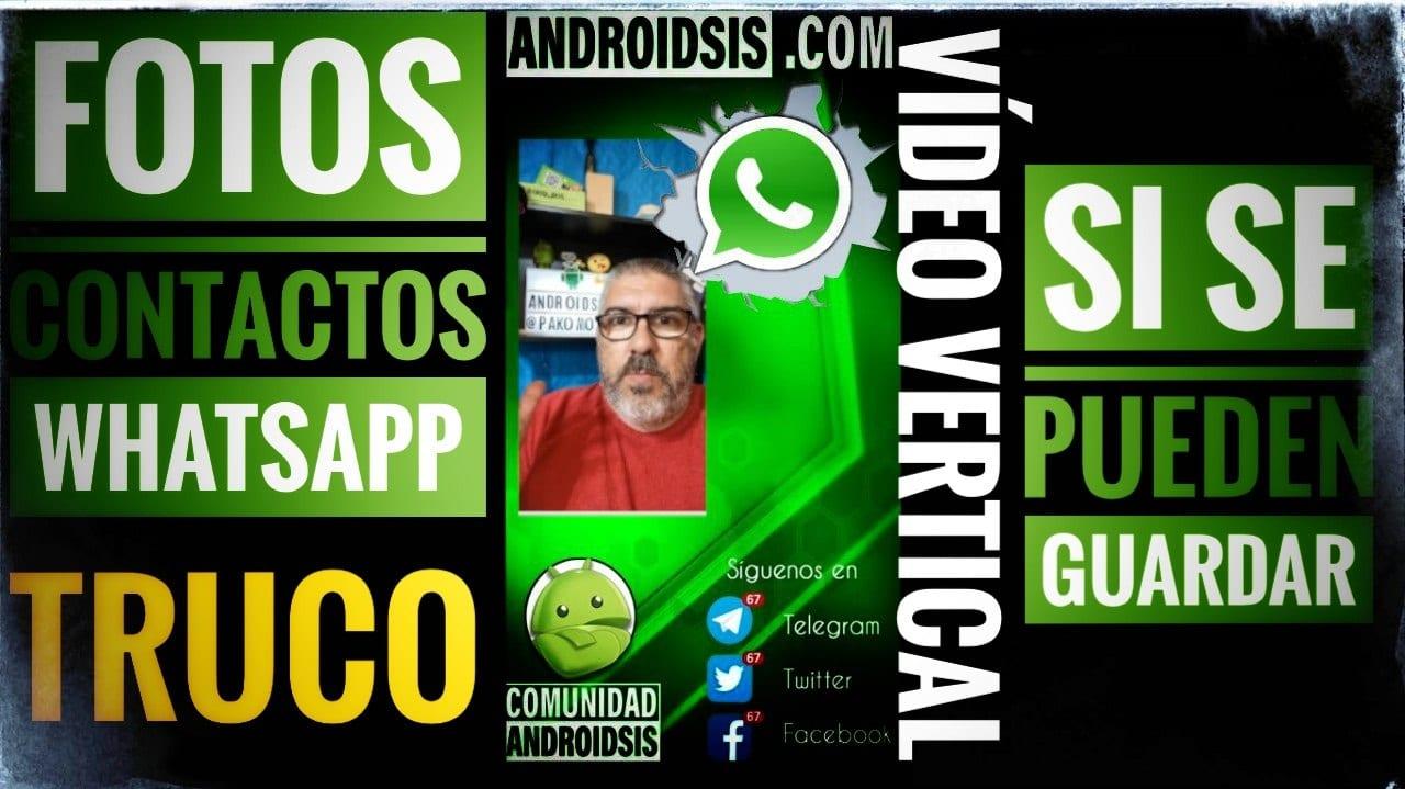 Guardar fotos de perfil de los contactos de WhatsApp