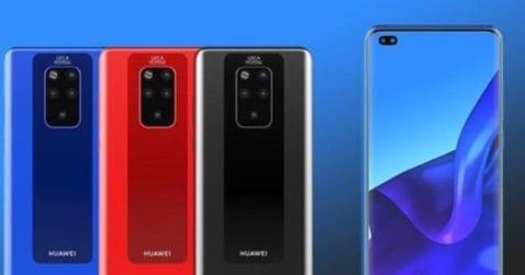 Concepto del Huawei Mate 30 Pro
