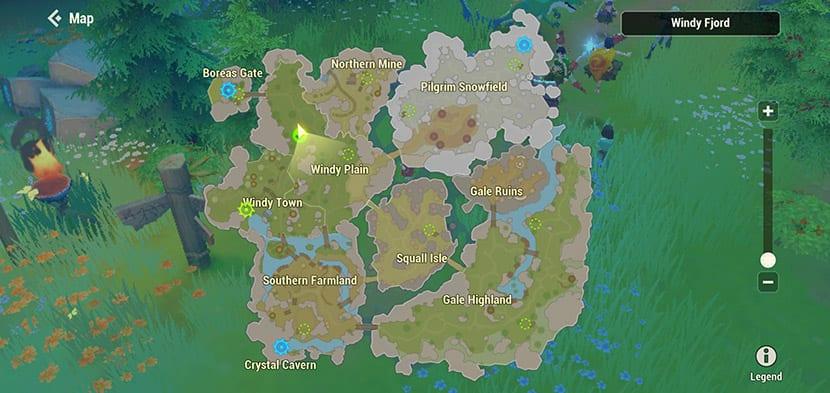 Mapa de Dawn of Isles