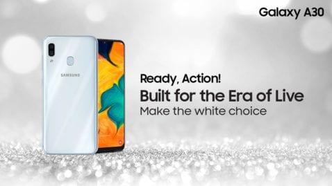 Samsung Galaxu A30 blanco