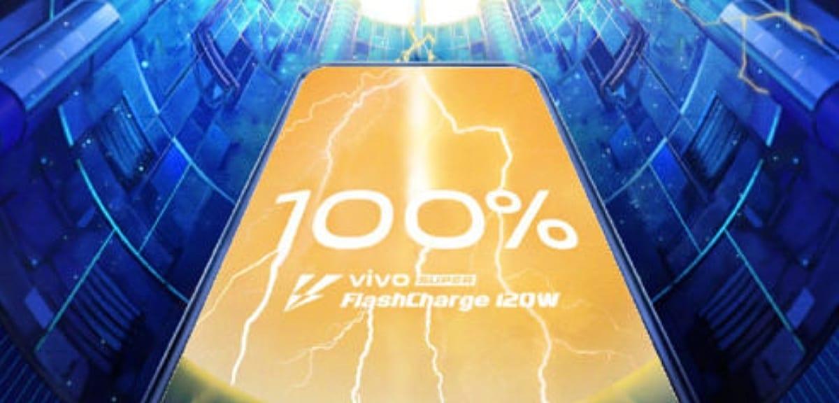 Tecnología de carga rápida Super FlashCharge de 120 vatios de Vivo