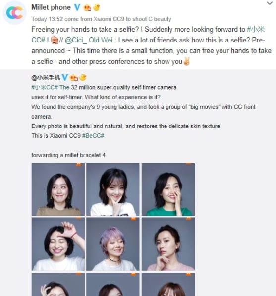 Fotos selfies tomadas con el Xiaomi Mi CC9