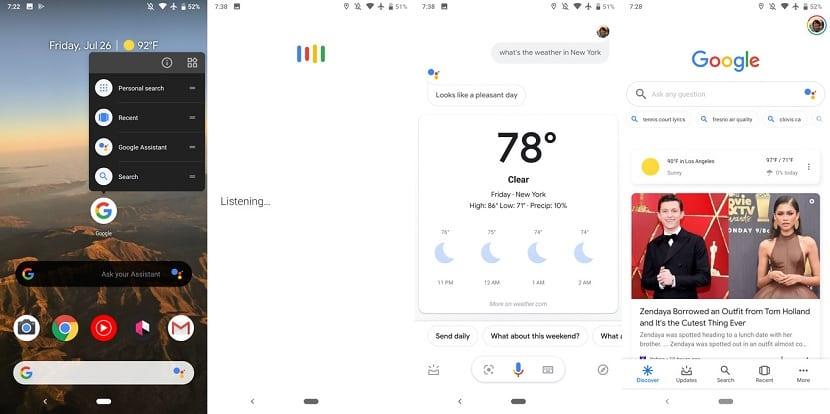 Google Assistant busquedas por voz