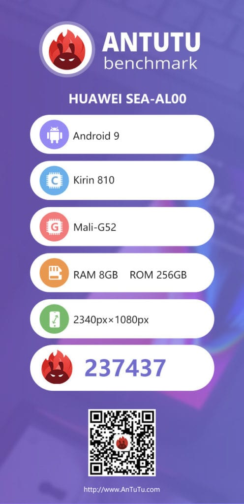Honor 9X en AnTuTu con Kirin 810