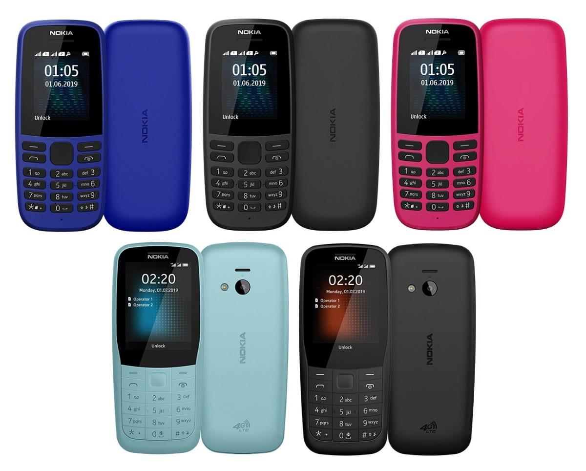 Nokia 105 y Nokia 220