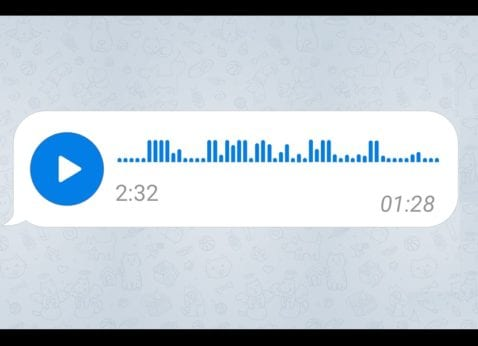 Telegram nota de audio