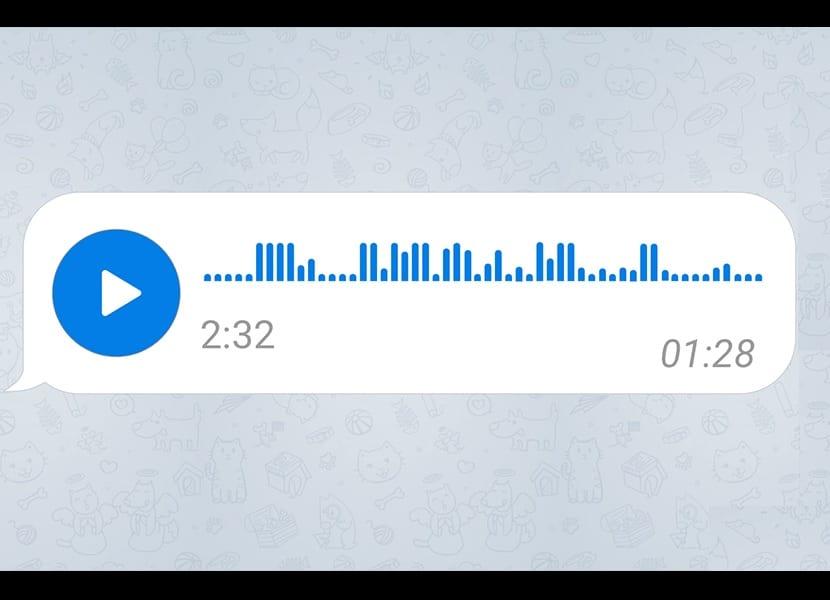 Telegram nota de audio