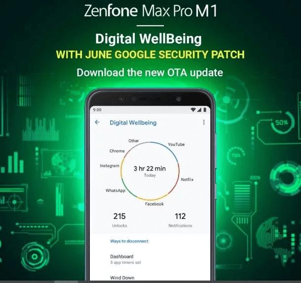 Bienestar digital llega al Asus ZenFone Max Pro M1