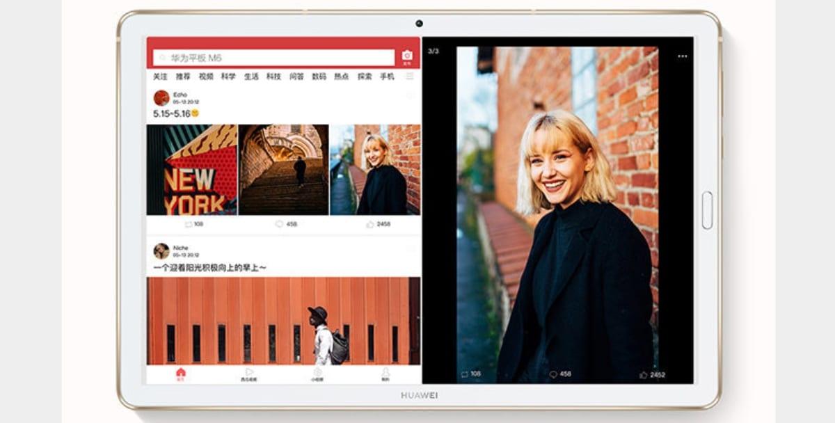 Función Vista paralela en Huawei MediaPad de 10.8 pulgadas
