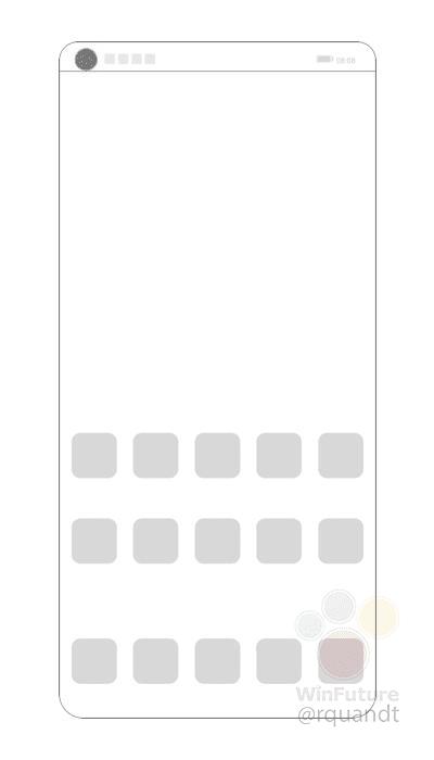 Diseño de smartphone Huawei patentado con cámara en pantalla