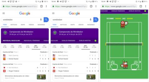 Juego de Tenis en Google
