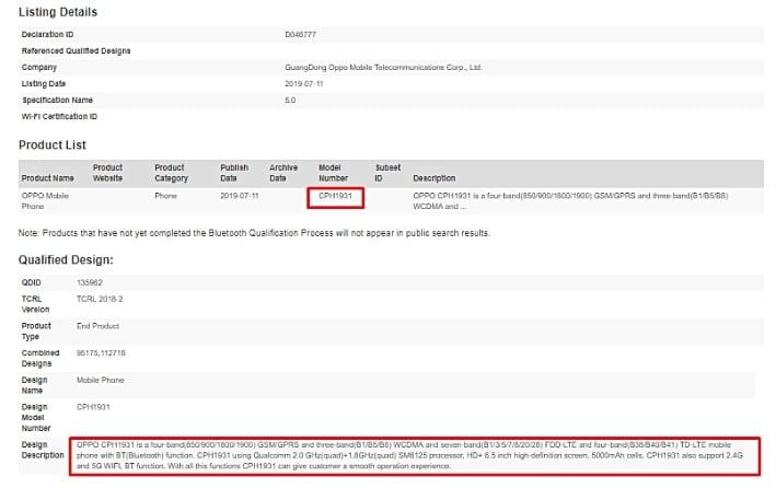 Oppo con Snapdragon 665 certificado
