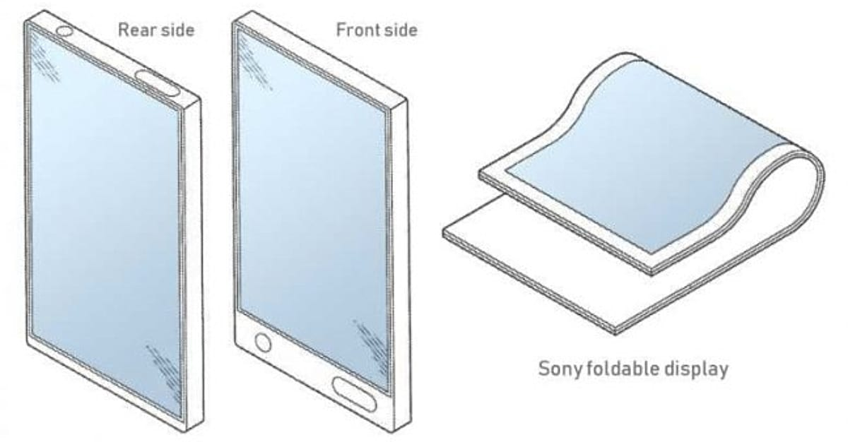 Patente del smartphone flexible de Sony