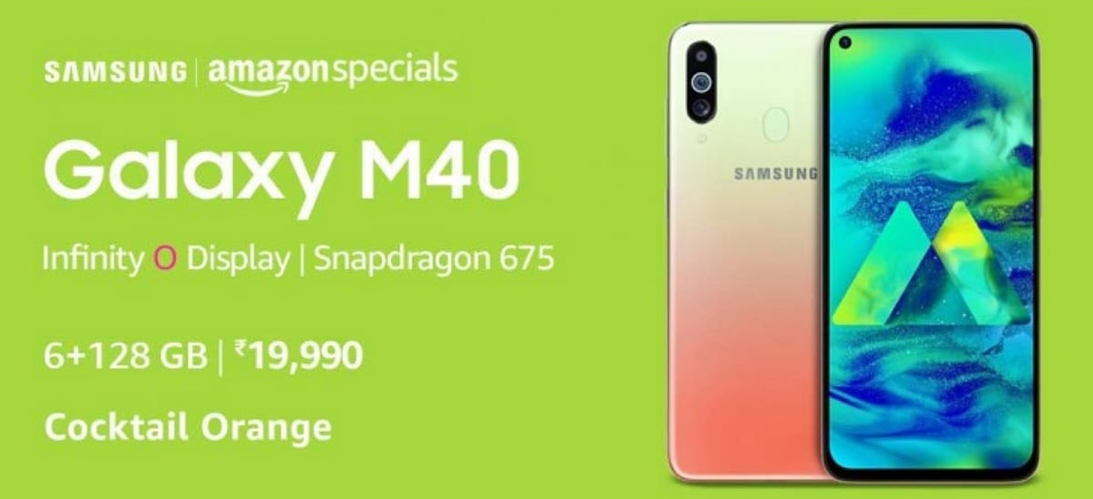 Samsung Galaxy M40 en color Cocktail Orange de edición limitada por Amazon Prime Day