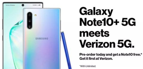 Samsung Galaxy Note 10 Plus 5G de Verizon
