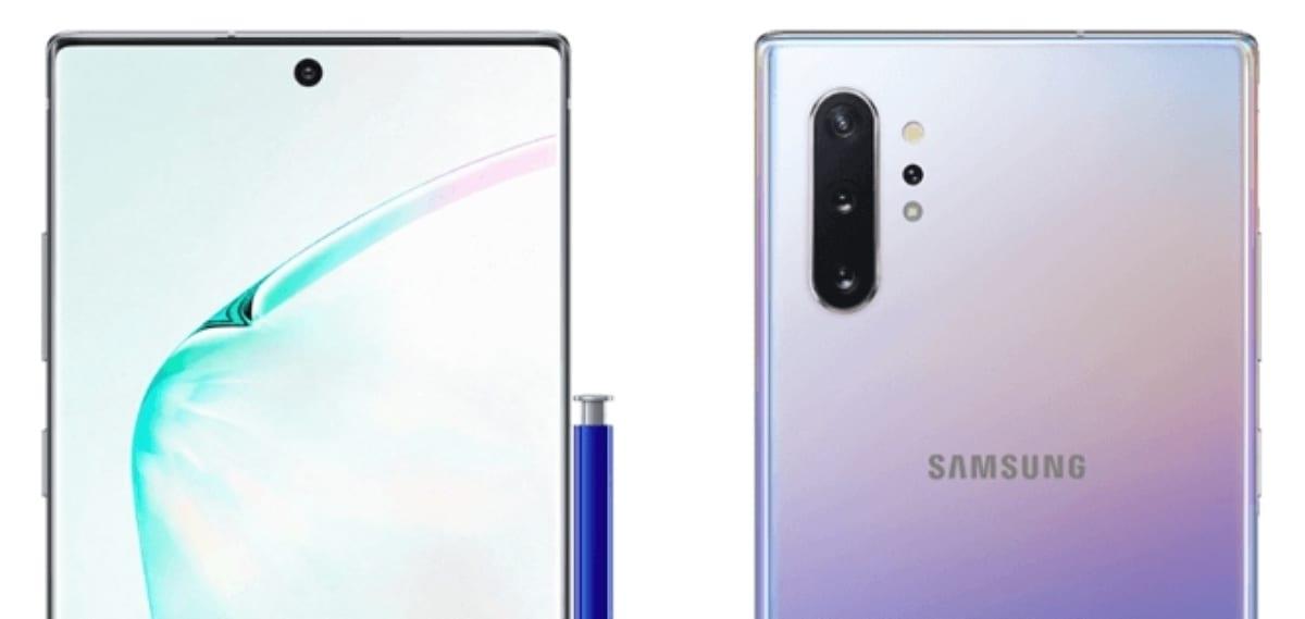 Imagen renderizada del Samsung Galaxy Note 10 Pro