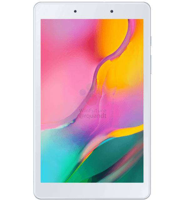 Nueva variante de la Samsung Galaxy Tab A 8.0 (2019) plateado render