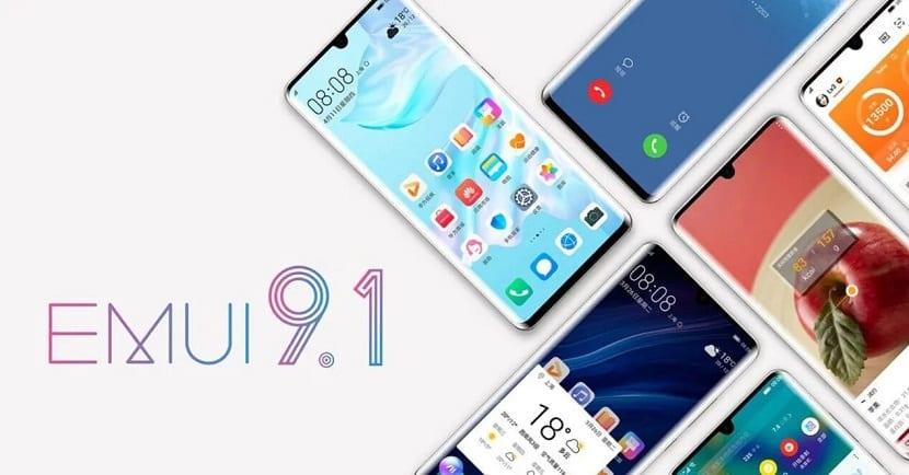 teléfonos Huawei con EMUI 9.1