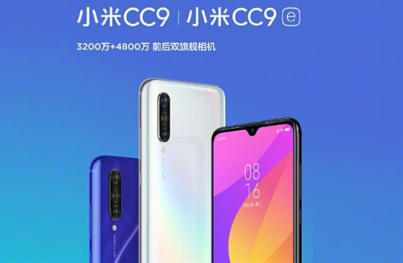 Xiaomi Mi CC9 y Mi CC9e