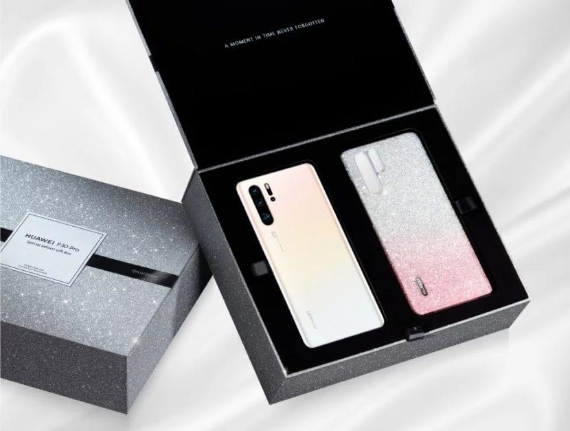 Huawei P30 Pro Limited Edition Pearl White en caja de regalo especial con estuche glamoroso
