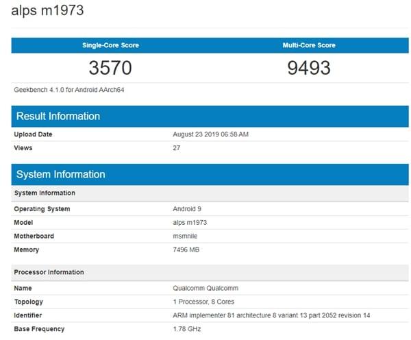 Meizu 16s Pro en Geekbench