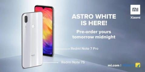 Serie Redmi Note 7 en color Astro White