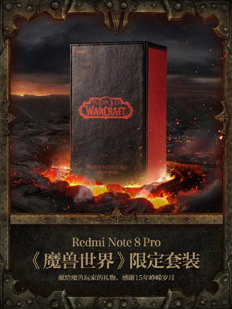 Redmi Note 8 Pro Edición limitada del World of Warcraft