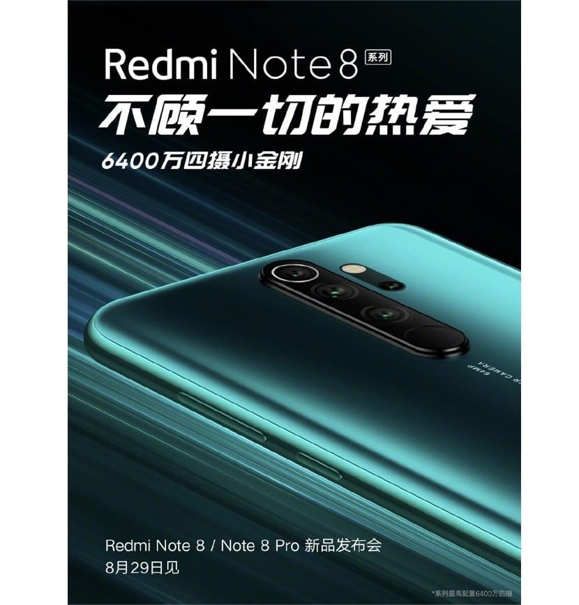 Redmi Note 8 y Note 8 Pro presentacion