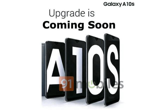 Póster filtrado del Samsung Galaxy A10s