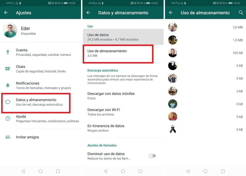 Whatsapp espacio chats