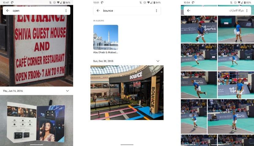 Google Fotos - Reconocimiento de textos