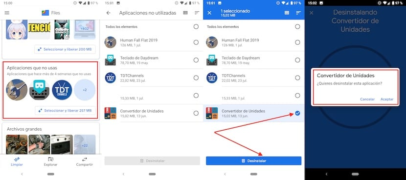 Borrar aplicaciones que no utilizamos en Android