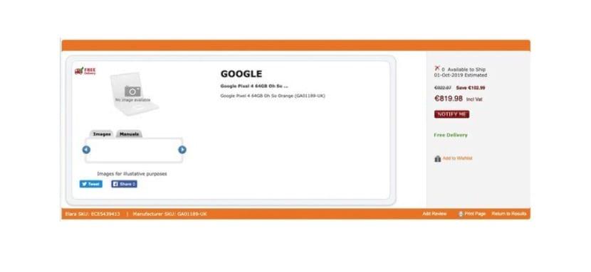 Precios Google Pixel 4