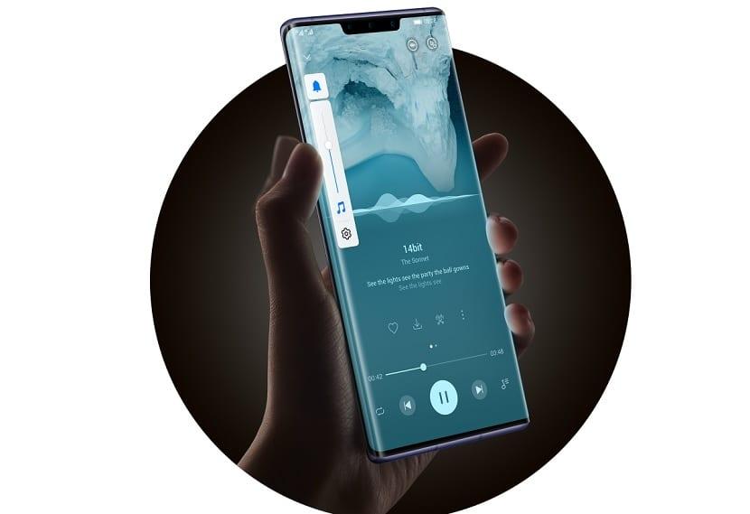Huawei Mate 30 Pro control volumen