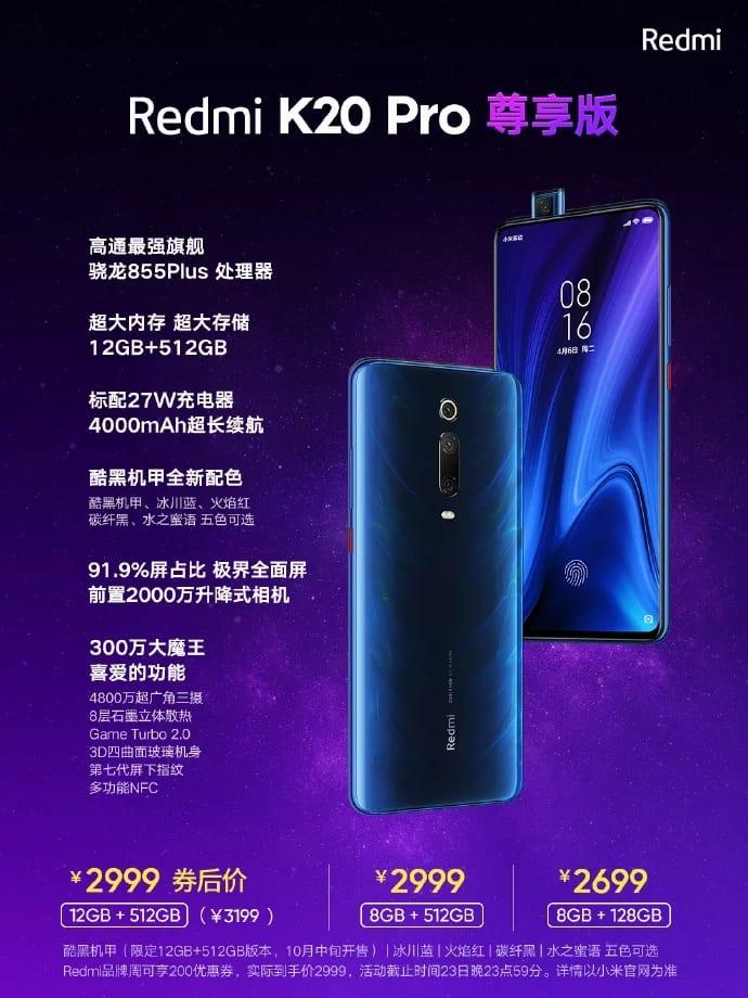 Redmi K20 Pro con Snapdragon 855 Plus y más