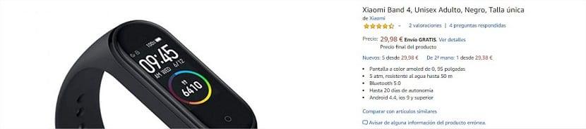Comprar la Xiaomi Mi Band 4 barata