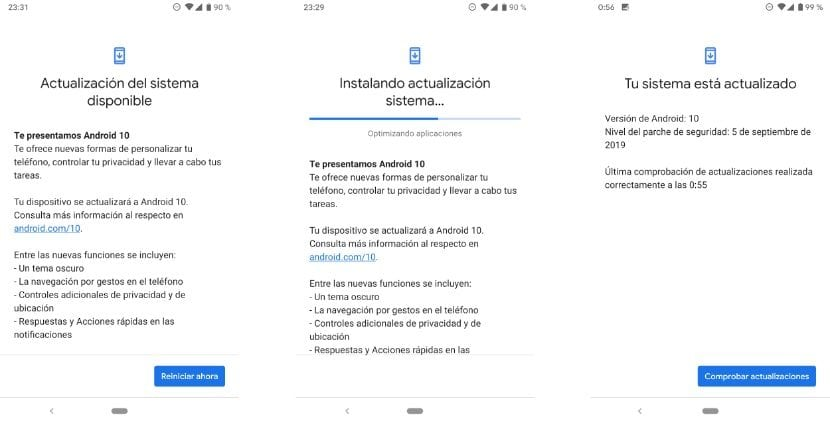 Actualizar a Android 10