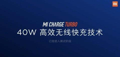 Tecnología de carga rápida inalámbrica de 40 vatios de Xiaomi
