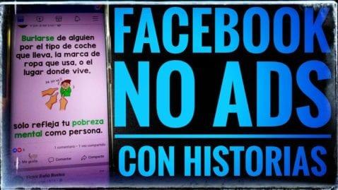 Facebook sin anuncios