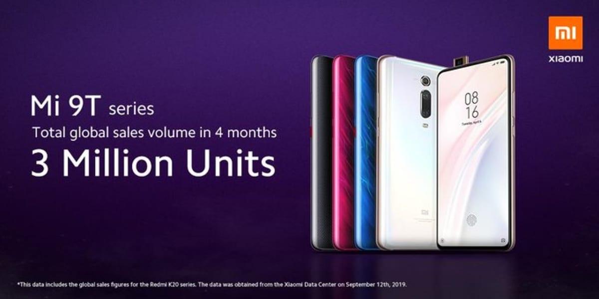 Ventas de la serie Redmi K20 Pro y Xiaomi Mi 9T