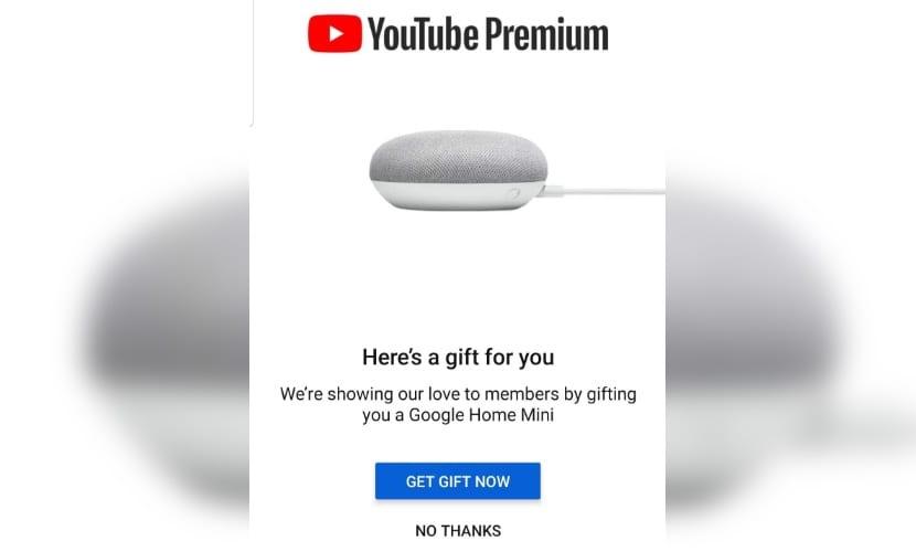 YouTube Premium - Google home Mini