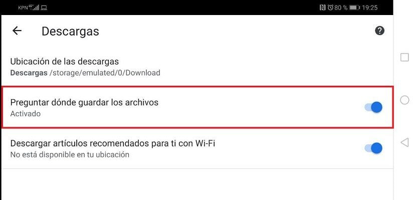 Google Chrome descargas