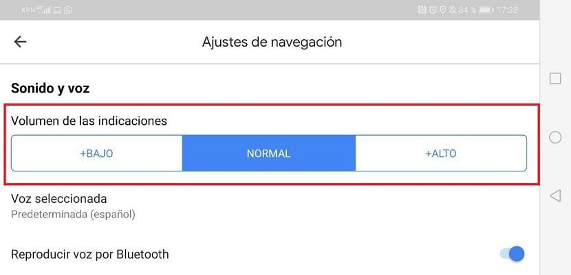 Google Maps volumen voz