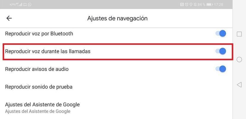 Google Maps voz llamadas
