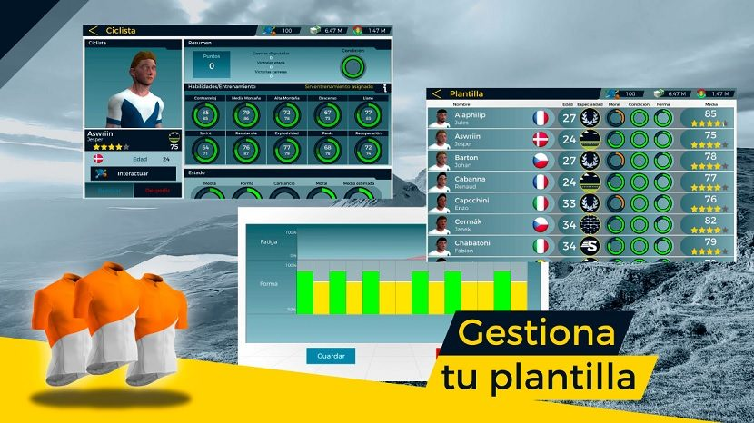 Live Cycling Manager 2 gestionar equipo