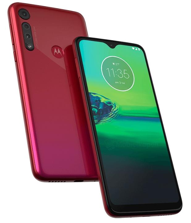 Motorola Moto G8 en rojo filtrado