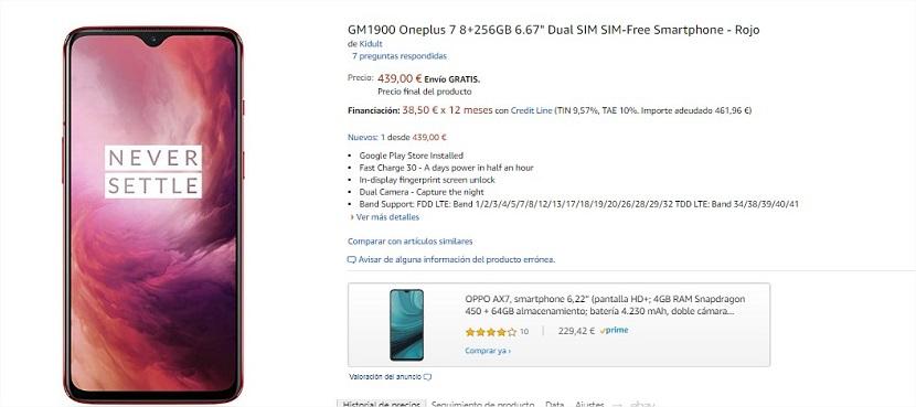 Comprar OnePlus siete barato
